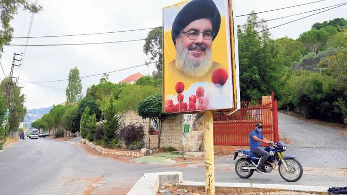 Лидер Хезболаха на билборду у Либану