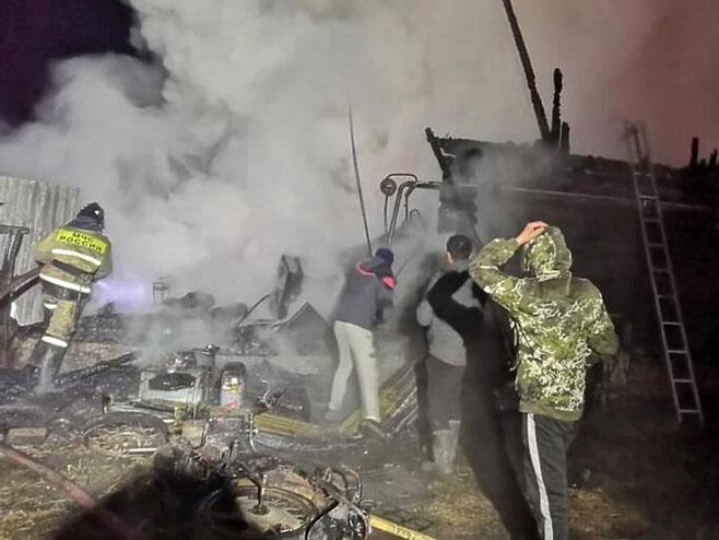 пожар у руском дому