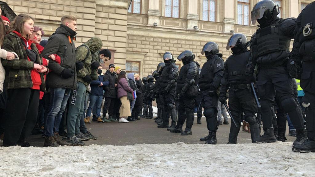 Санкт Петербург протести