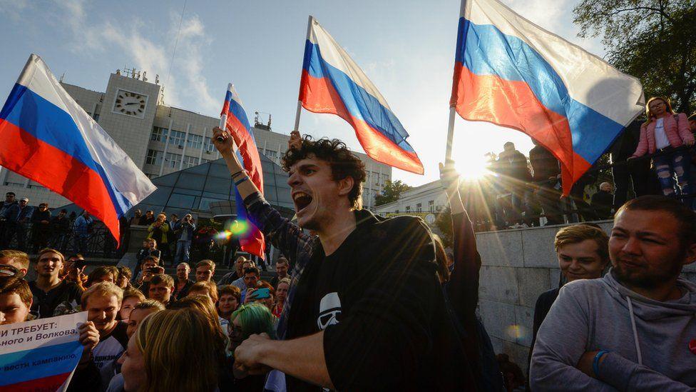 Протести у Урисји након забране кандидатуре Навањном (Архива 2017. година)